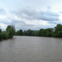 р.Любляница после дождя