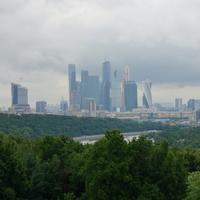 Москва - Сити с Воробьёвых гор