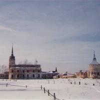 Панорама заброшенного Николае-Радовицкого монастыря. 90-е годы