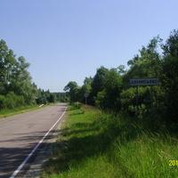 Вдоль дороги через деревню Денисьево