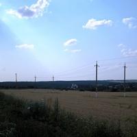 Пейзаж на окраине села Долгие Буды
