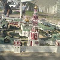 Новодевичий Монастырь. Макет, установленный в монастыре. 2007 г.