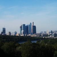 Московские небоскрёбы. Вид с Воробьёвых гор.