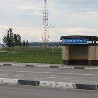 Маслова Пристань. Автобусная остановка на трассе.