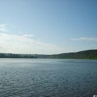 Река Томь в селе Журавлево