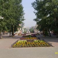 В пешеходной зоне Улан-Уде на улице Ленина