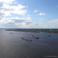 Нижний Новгород. Вид на Волгу с канатной подвесной дороги
