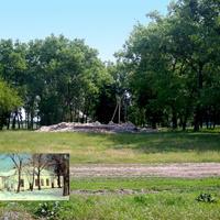 Место разрушенного храма в селе Репное