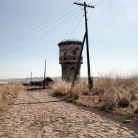Водонапорная башня на станции Загустай