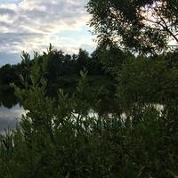 С плотины
