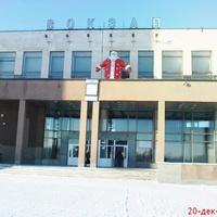 КГЭС-здание вокзала зимой