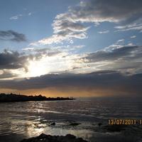 Закат на пляже Ребзик, июль 2011, ностальгия.