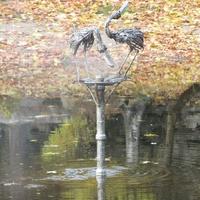 Хамина, фонтан в сквере у пруда