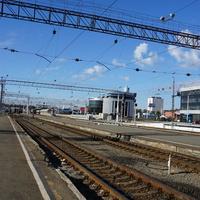 Ж/д  вокзал в Челябинске.