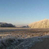 Стеблянки ,пейзаж,первый иней 2015