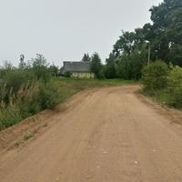 Центральная улица. С левой стороны шла дорога в деревню Поломять (Холопье).