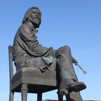 Острогожск. Памятник  И.Н. Крамскому.