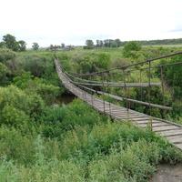 Навесной мост через Вагай в Усть-Ламенке