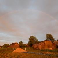 Вечерняя радуга в Друе