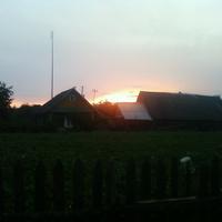 закат в д. Поляи