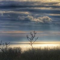 Крым. Гурзуф. Январь. Вид на море от подножия горы Медведь