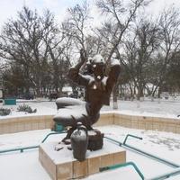 Городской фонтан зимой