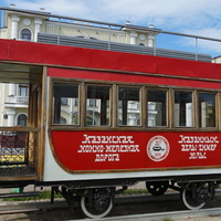 Трамвай конка - памятник