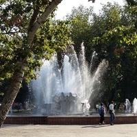 Фонтан в парке города Кизляра