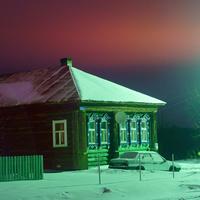 Деревня Дудкино. Ночь, фонарь...