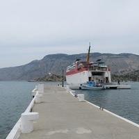 Остров Сими, причал в монастыре Панормитис