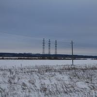 Поле у села Кременье с видом на Каширу