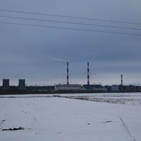 Долина реки Ока и поле у села Кременье с видом на ГРЭС города Каширы