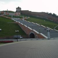 Чкаловская лестница с пл. Минина на Нижне-Волжскую набережную
