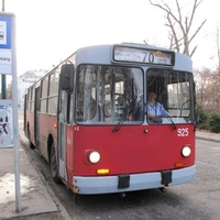 Будапешт, 2012 г. Ещё работают советские троллейбусы.
