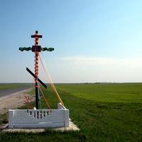 Поклонный крест при въезде в село Нижнее Гридино