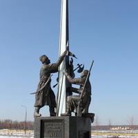"""Памятник народному ополчению, отстоявшему веру и отечество в 1612 г. Орлово,  КСК """"Левадия"""""""