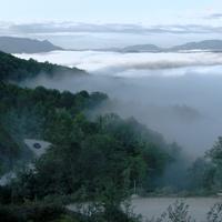 Вид с Шаумянского перевала на Шаумян