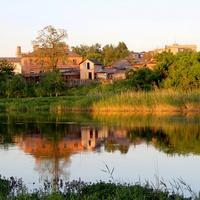 Летний вечер на реке.