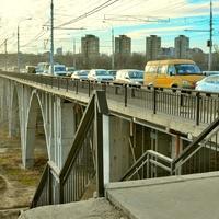 Астраханский мост через реку Царица.