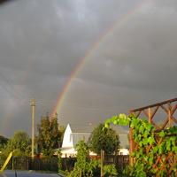 Двойная радуга. Ерышово.