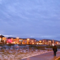Первый снег в городе