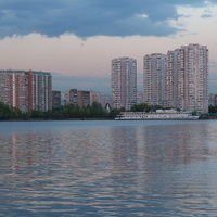 Река москва, улица Гурьянова, церковь Всех скорбящих Радость иконы Божией Матери