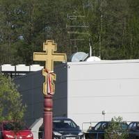 Коломяжский проспект, памятный крест