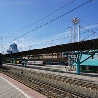 На Самарском вокзале.