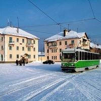 центр 4-го разреза Волчанска, зимой