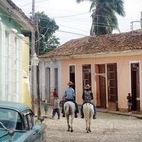 На улице Тринидада. Куба