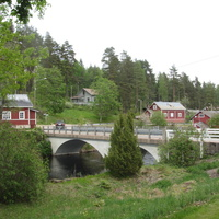Верла, мост через плотину