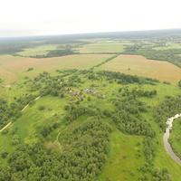 Иовлево . Вид от Сенчуково с высоты 200 м.