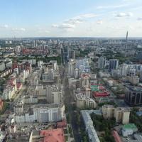 Вид со смотровой площадки на 52-м этаже