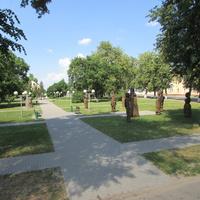 Ружаны, на центральной площадь